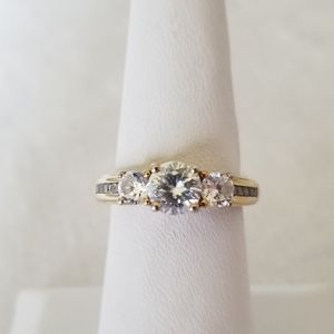 CZ Ring with Gold Band